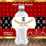 Chanel with Gold Banner Water Bottle Wrapper