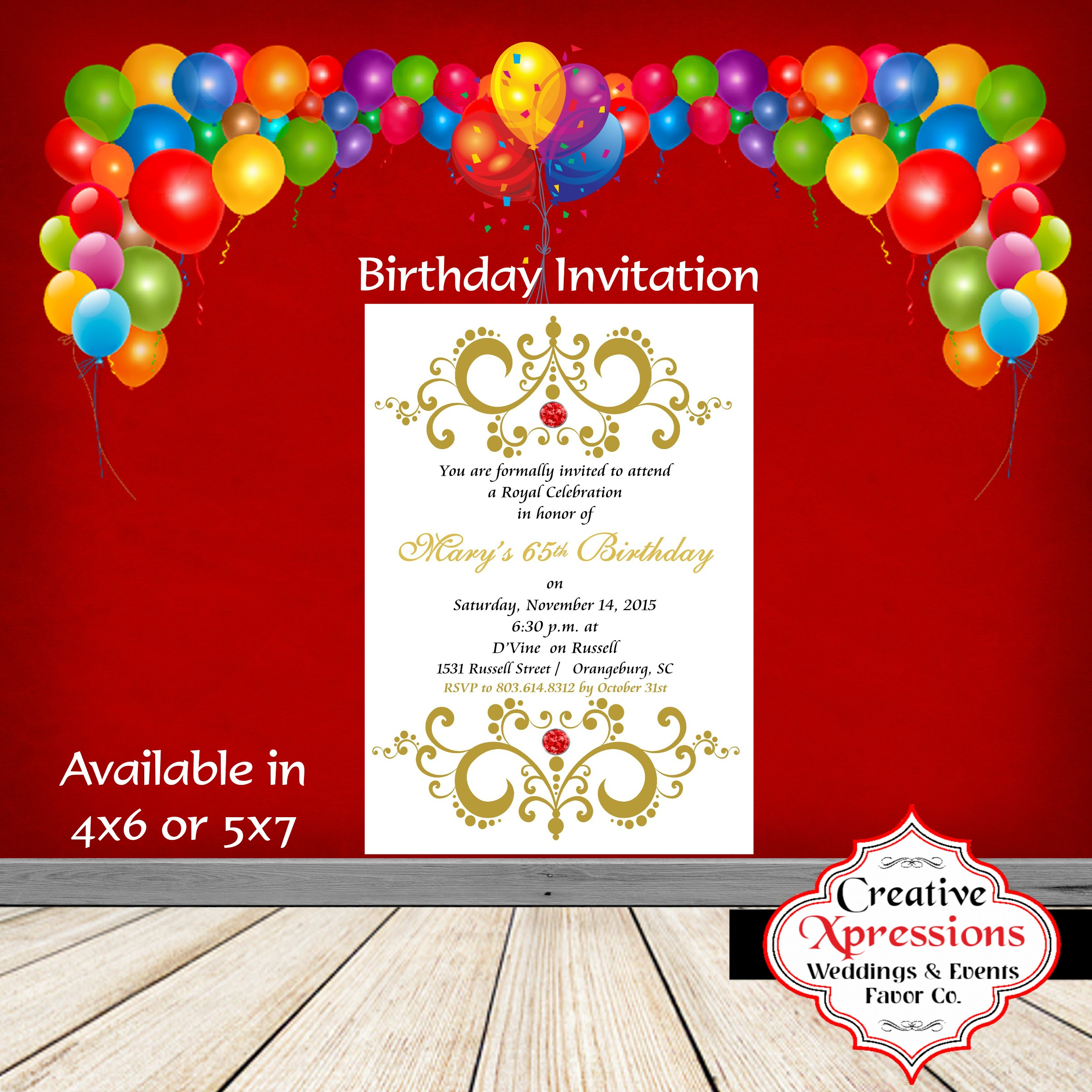 Royal Glory Birthday Invitation