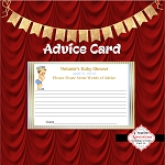Light Blue and Gold Advice Card