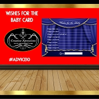 Royal Blue Theater Curtain Advice Card
