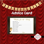 Gold and Black Polka Advice Card