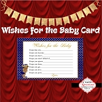 Blue and Gold Polka Dots Advice Card