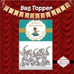 Royal Baby on Teal Pillow Bag Topper