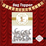 Royal Baby on White Pillow Bag Topper