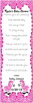 Zebra  Pink and White Bookmark