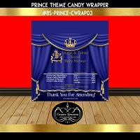 Royal Prince on Wide Throne Candy Wrapper