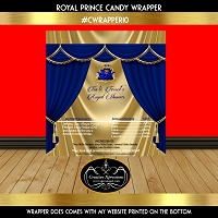Sleeping Royal Prince on Blue Throne Candy Wrapper