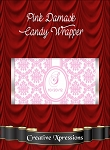 Pink Damask Candy Wrapper
