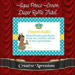 Aqua Prince Crown Diaper Raffle