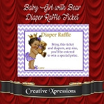 Baby Girl with Bear Diaper Raffle