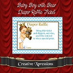 Baby Boy with Bear Diaper Raffle