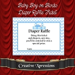 Baby Boy on Blocks Diaper Raffle