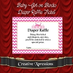 Baby Girl on Blocks Diaper Raffle