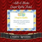 ABC Blocks Diaper Raffle Inserts