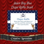 Sailor Boy Diaper Raffle Insert