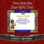Prince Baby Blue Diaper Raffle Insert