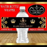 Royal Prince on Black and Gold Blocks Wrapper