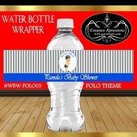 Grey Stripes Polo Water Wrapper