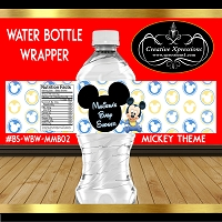 Mickey Head Blue and Yellow Water Wrapper