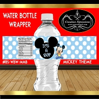 Blue and White Polka Mickey Wrappers