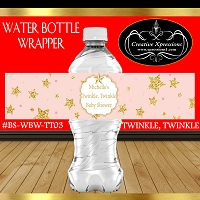 Coral and Gold Twinkle Stars Water Wrapper