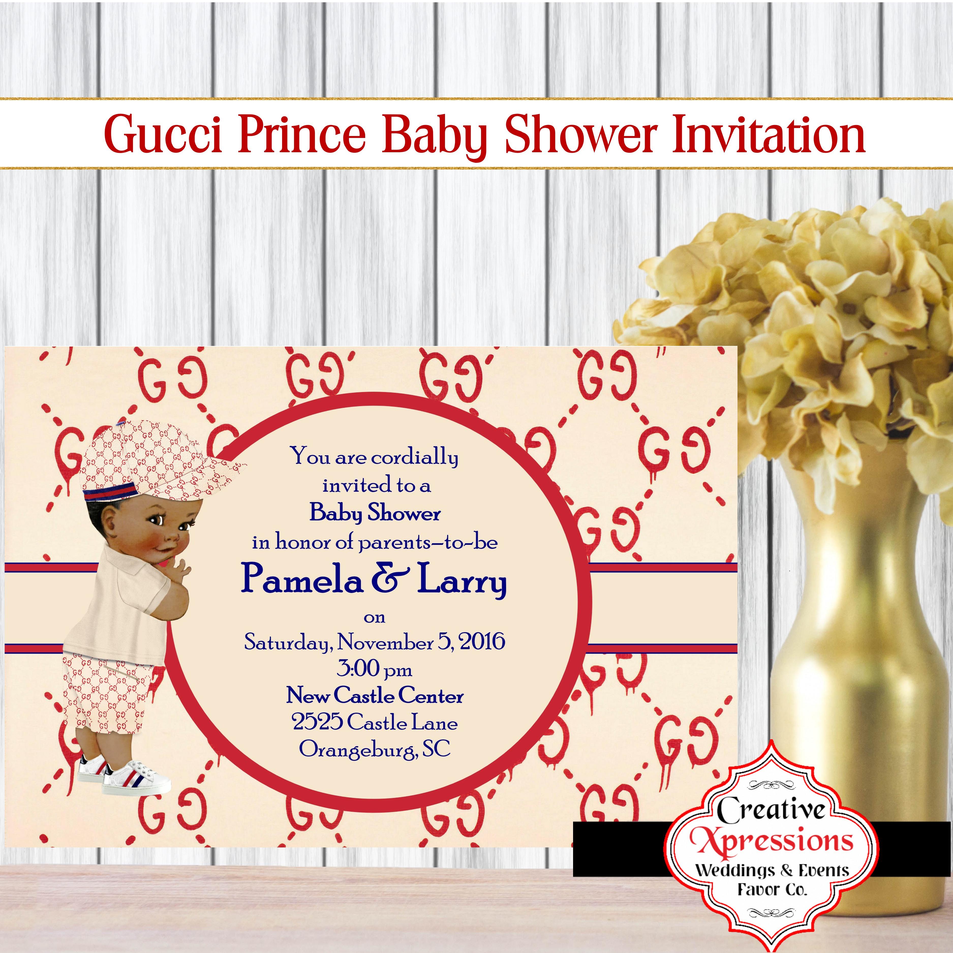 The New Gucci Shower Invitation
