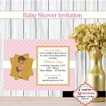 Gucci Princess Arrival Shower Invitation