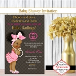 The Big Pink Hairbow Princess Invitation