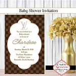 Designer Square Shower Invitation