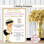 It's A Darling Affair Baby Shower Invitation