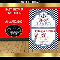 Ahoy It's  a Boy Shower Invitation
