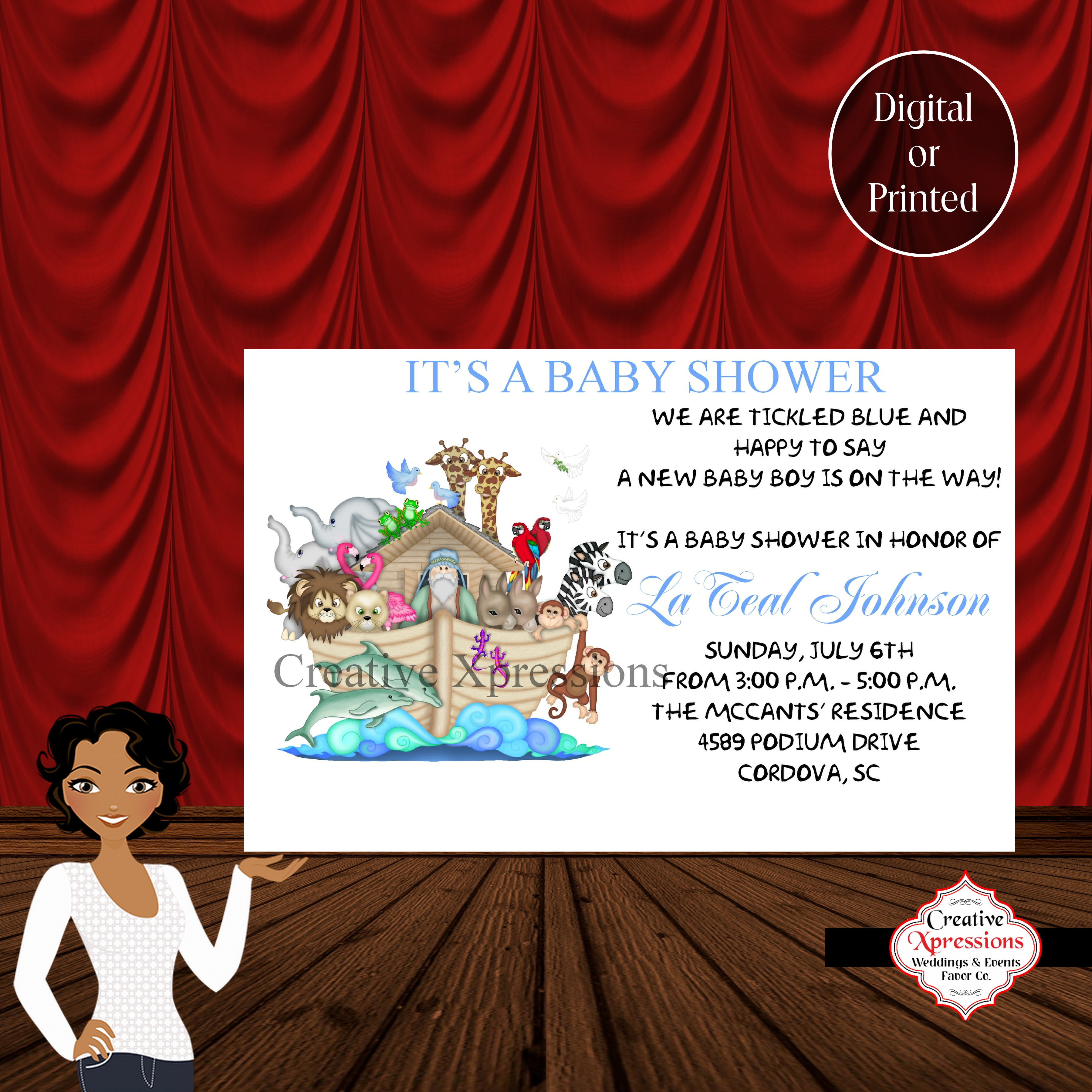 Magnificent Noah Ark Baby Shower Invitations Pictures - Invitations ...