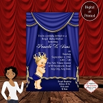 The Blue Royal Prince Edition Baby Shower Invitation