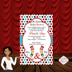 Seuss Boy 1 and 2 Baby Shower Invitation