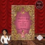 Royal Pink and Gold Baby Shower Invitation