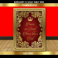 Princes are Sweet Table Sign