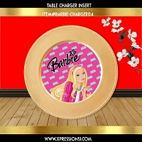 Princess Barbie Charger Insert