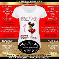 Tu Tu Cute Birthday Princess Tshirt