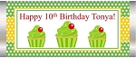 Green Polka Cupcakes Candy Wrapper