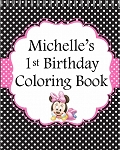 Little Minnie Black Coloring Book