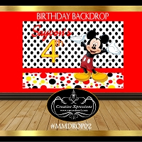 Mickey Mouse Dots Backdrop