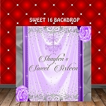 Purple and Silver Glamour Backdrop
