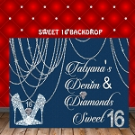 Hanging Diamond Chains Backdrop