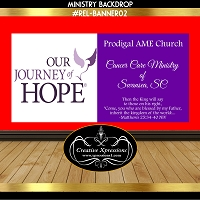 Journey of Hope in Purple Banner 2 Sided