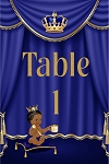 Royal Blue Curtain Table Number