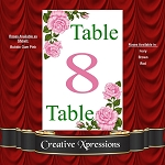 Pink Floral Splendor Table Number Package