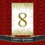 Scattered Gold Specks Table Numbers Package