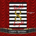Black and White Big Stripes Table Numbers Package