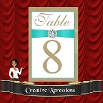 Egg Blue Robin Table Number Package