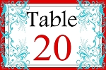 Lee Flourish Magic Table Number Package